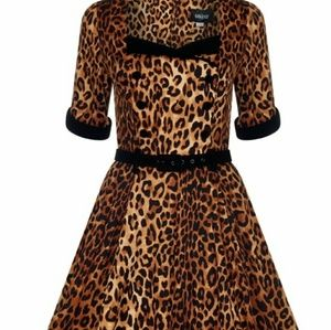 Collectif leopard print dress NEW